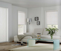 Amo roller and vertical blinds